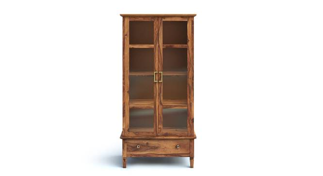 Malabar Bookshelf/Display Cabinet (55-book capacity) (Teak Finish) by Urban Ladder - Front View Design 1 - 134773
