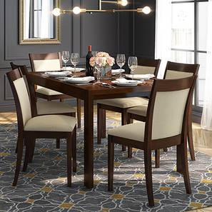 Vanalen 4 to 6 dalla 6 seater latte dining table 00 lp