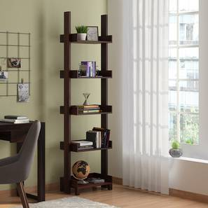 Austen Bookshelf/Display Unit (45-book capacity) (Mahogany Finish) by Urban Ladder - Design 1 - 135172