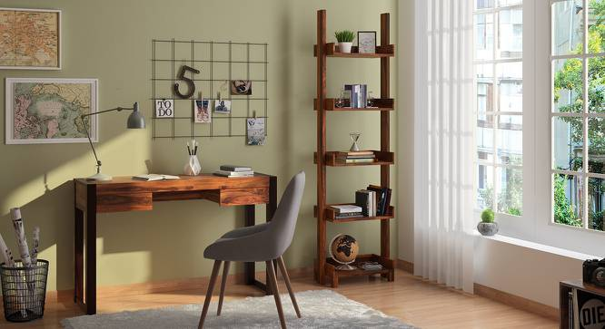 Austen Bookshelf/Display Unit (45-book capacity) (Teak Finish) by Urban Ladder - Design 1 Cover Image - 135183