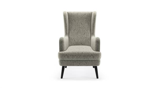 Genoa Wing Chair (Monochrome Paisley) by Urban Ladder