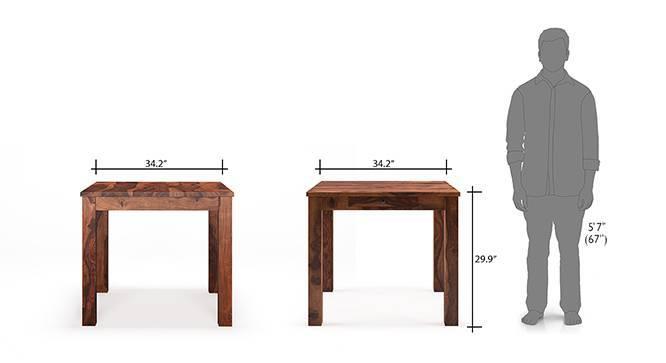 Arabia capra 4 seater storage dining table set teak finish dim 175