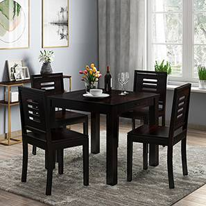 Arabia - Capra 4 Seater Storage Dining Table Set (Mahogany Finish) by Urban Ladder - Design 1 Half View - 135962