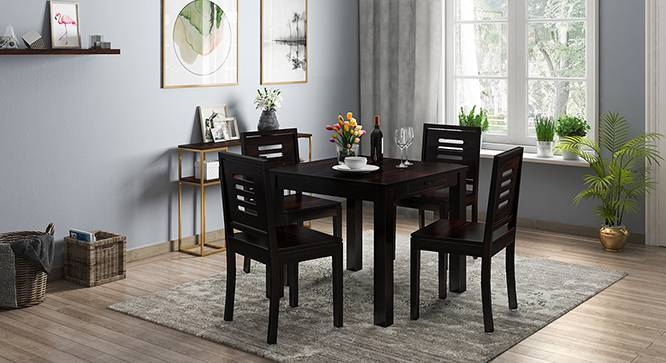 Arabia - Capra 4 Seater Storage Dining Table Set (Mahogany Finish) by Urban Ladder - Design 1 Full View - 135961