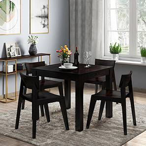 Arabia - Gordon 4 Seater Storage Dining Table Set (Mahogany Finish) by Urban Ladder