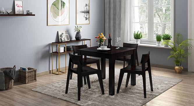 Arabia - Gordon 4 Seater Storage Dining Table Set (Mahogany Finish) by Urban Ladder - Design 1 Full View - 135975