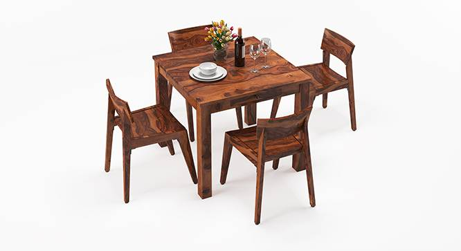 Arabia - Gordon 4 Seater Storage Dining Table Set (Teak Finish) by Urban Ladder - Design 1 Half View - 135990