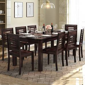 Arabia XXL - Capra 8 Seater Dining Table Set (Mahogany Finish) by Urban Ladder
