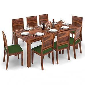 Arabia XXL - Oribi 8 Seater Dining Table Set (Teak Finish, Avocado Green) by Urban Ladder - Design 1 - 136234