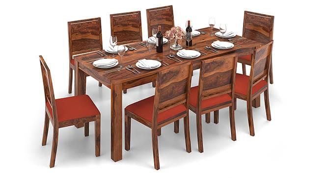 Arabia XXL - Oribi 8 Seater Dining Table Set (Teak Finish, Burnt Orange) by Urban Ladder - Design 1 Half View - 136237