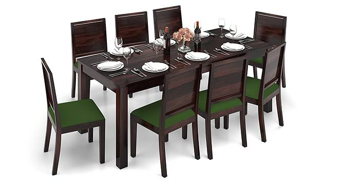 Arabia XXL - Oribi 8 Seater Dining Table Set (Mahogany Finish, Avocado Green) by Urban Ladder - Design 1 Half View - 136264