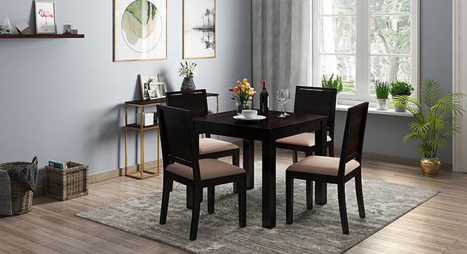 Arabia 4 Seater Dining Table (With Storage) (Mahogany Finish) by Urban Ladder - Design 1 Full View - 136493