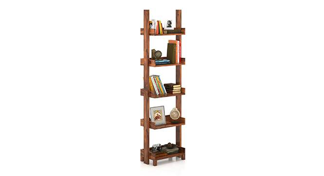 Austen Study Table - Bookshelf Bundle (Teak Finish) by Urban Ladder