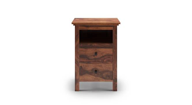 Snooze Tall Bedside Table (Teak Finish) by Urban Ladder - Front View Design 1 - 136968