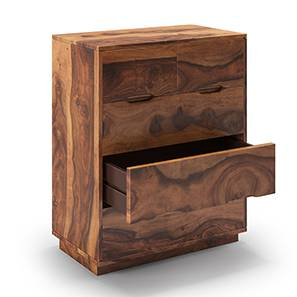 Zephyr Chest of Drawers (Teak Finish) by Urban Ladder