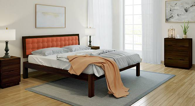Florence Bed (Solid Wood) (Mahogany Finish, King Bed Size, Lava) by Urban Ladder - Design 1 Full View - 137396