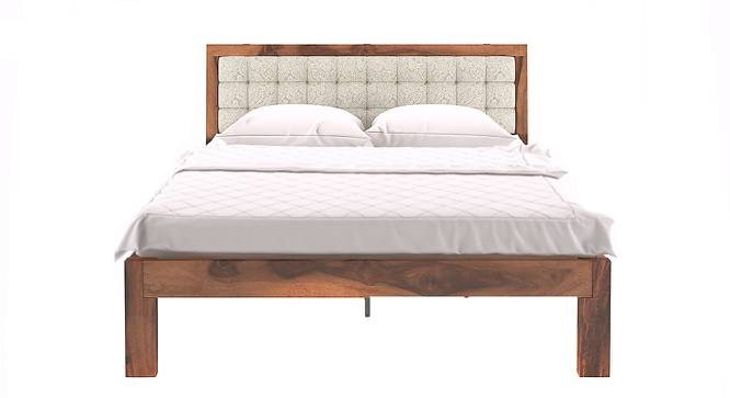 Florence Bed (Solid Wood) (Teak Finish, Queen Bed Size, Monochrome Paisley) by Urban Ladder - Design 1 Half View - 137452