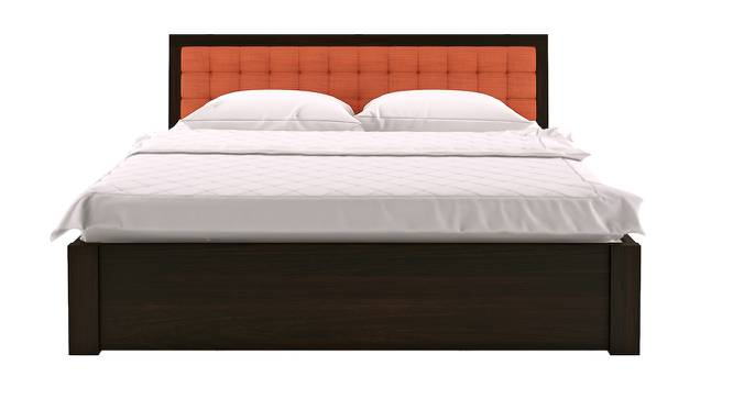 Florence Storage Bed (Solid Wood) (Mahogany Finish, King Bed Size, Lava, Drawer Storage Type) by Urban Ladder - Design 1 Half View - 137477