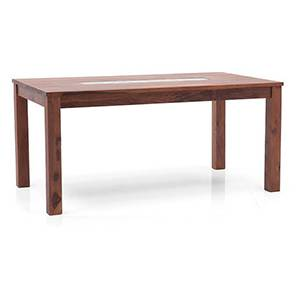 Brighton Large 6 Seater Dining Table (Teak Finish) by Urban Ladder
