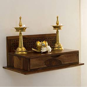 Devoto Prayer Shelf (Teak Finish) by Urban Ladder