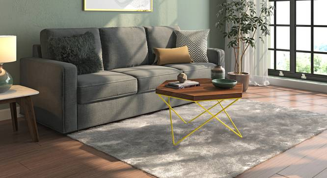 Dyson Hex Coffee Table (Teak Finish, Yellow) by Urban Ladder - Design 1 Full View - 137551