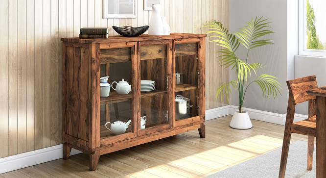 "Akira Wide Sideboard (Teak Finish, L Size, 140 cm  (55"") Length) by Urban Ladder - Design 1 Full View - 137596"