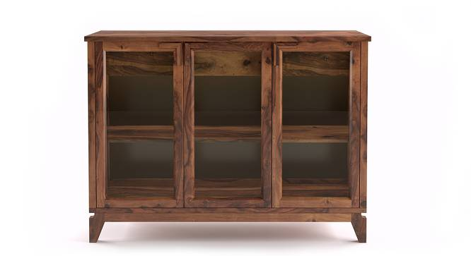 "Akira Wide Sideboard (Teak Finish, L Size, 140 cm  (55"") Length) by Urban Ladder - Front View Design 1 - 137597"