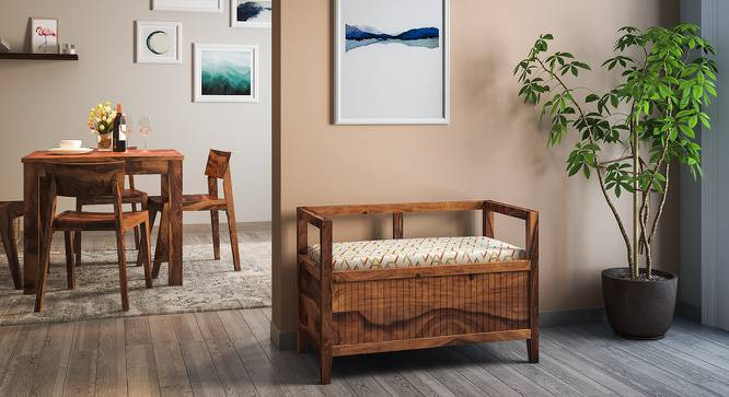 Rhodes Entryway Storage Bench (Teak Finish) by Urban Ladder