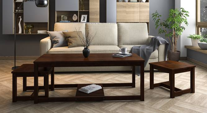 Hevea Nested Coffee Table (Dark Walnut Finish) by Urban Ladder - Design 1 Full View - 137940