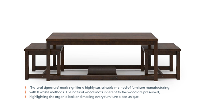 Hevea Nested Coffee Table (Dark Walnut Finish) by Urban Ladder - Front View Design 1 - 137941