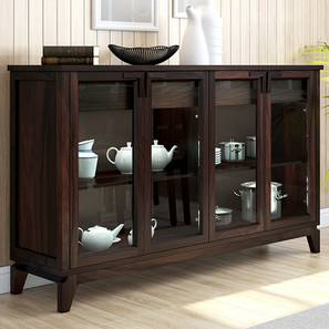 """Akira Wide Sideboard (Mahogany Finish, XL Size, 165 cm  (65"""") Length) by Urban Ladder - Design 1 Full View - 138047"""
