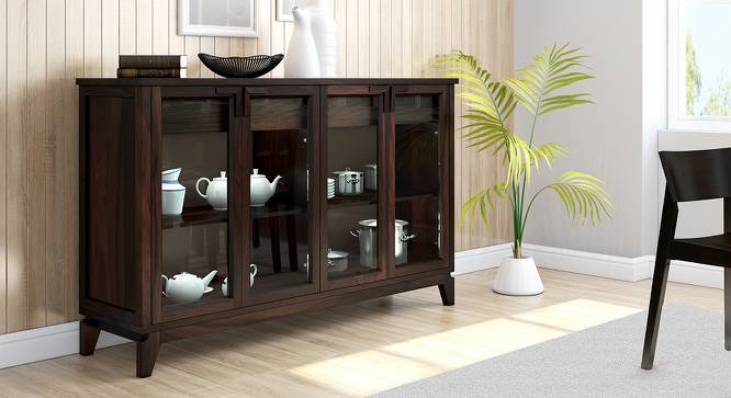 "Akira Wide Sideboard (Mahogany Finish, XL Size, 165 cm  (65"") Length) by Urban Ladder - Design 1 Full View - 138047"
