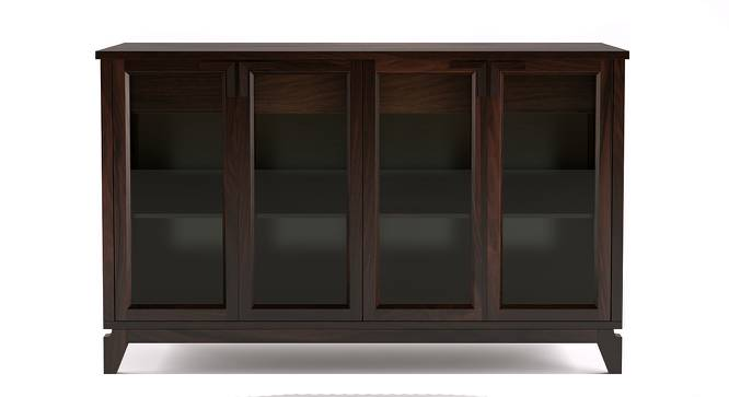 "Akira Wide Sideboard (Mahogany Finish, XL Size, 165 cm  (65"") Length) by Urban Ladder - Front View Design 1 - 138048"