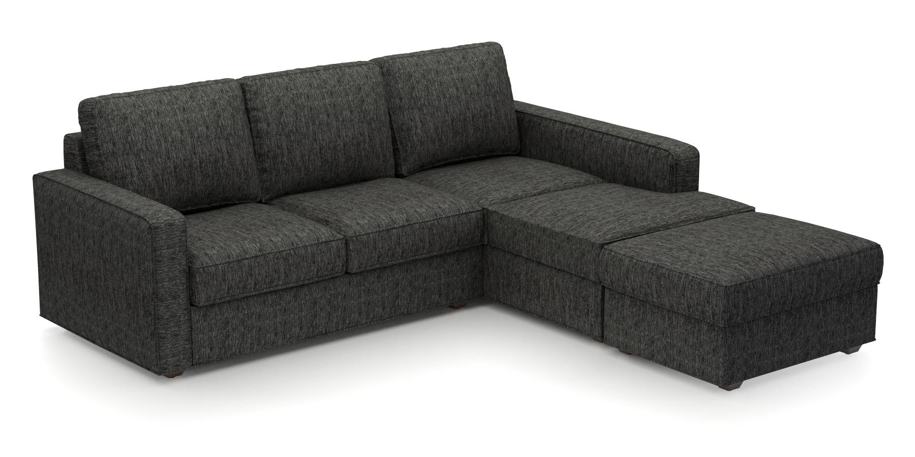 Apollo Sofa Set (Cosmic, Fabric Sofa Material, Regular Sofa Size, Soft Cushion Type, Sectional Sofa Type, Sectional Master Sofa Component) by Urban Ladder