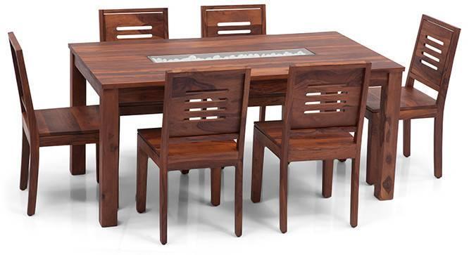Brighton Large - Capra 6 Seater Dining Table Set (Teak Finish) by Urban Ladder