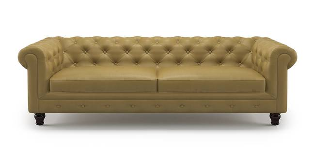 Winchester Leatherette Sofa (Butterscotch) (1-seater Custom Set - Sofas, None Standard Set - Sofas, Butterscotch, Leatherette Sofa Material, Regular Sofa Size, Regular Sofa Type)
