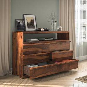 Ohio Chest Of Six Drawers (Teak Finish) by Urban Ladder - Design 1 Full View - 139866