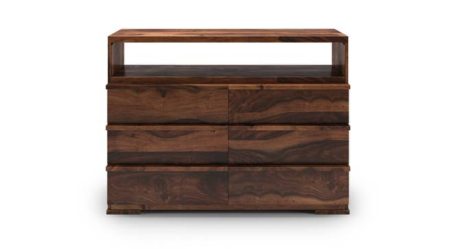 Ohio Chest Of Six Drawers (Teak Finish) by Urban Ladder - Front View Design 1 - 139867