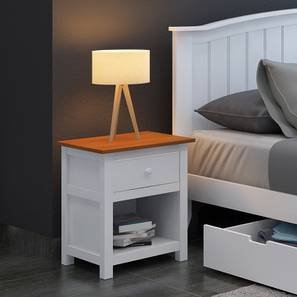 Evelyn Bedside Table (White Finish) by Urban Ladder