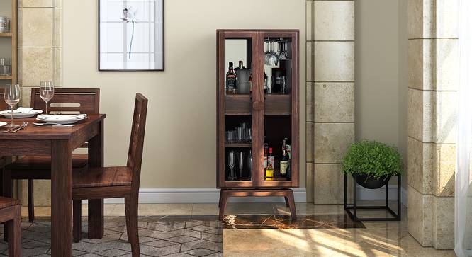 Boisdale Bar Cabinet (Walnut Finish) by Urban Ladder - Design 1 Full View - 140578