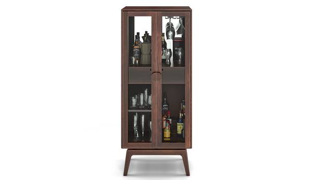 Boisdale Bar Cabinet (Walnut Finish) by Urban Ladder - Design 1 Half View - 140584