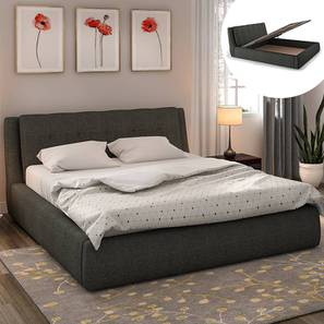 Stanhope Hydraulic Upholstered Storage Bed (King Bed Size, Charcoal Grey) by Urban Ladder - - 142673