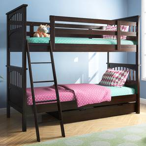 Barnley Bunkbed (Dark Walnut Finish, With Storage) by Urban Ladder