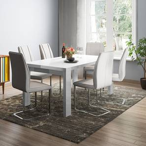 Kariba seneca 6 seater high gloss dining set 00 lp