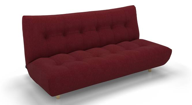 Palermo Sofa Cum Bed (Red) by Urban Ladder - Front View Design 1 - 144514
