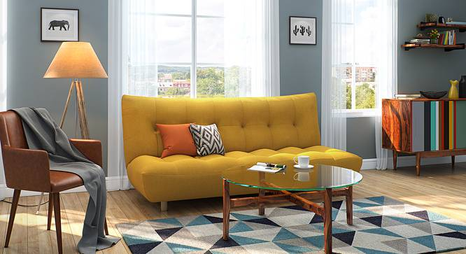 Palermo Sofa Cum Bed (Yellow) by Urban Ladder - Design 1 Full View - 144544