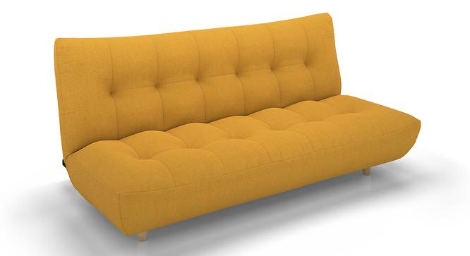 Palermo Sofa Cum Bed (Yellow) by Urban Ladder - Front View Design 1 - 144545