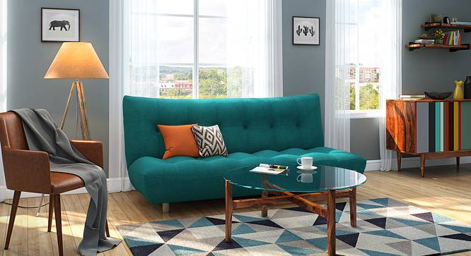 Palermo Sofa Cum Bed (Blue) by Urban Ladder - Design 1 Full View - 144553