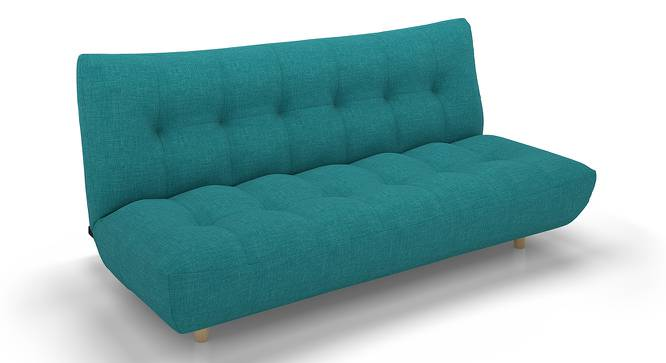 Palermo Sofa Cum Bed (Blue) by Urban Ladder - Front View Design 1 - 144554
