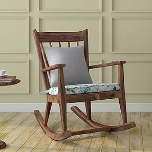 Atticus Rocking Chair (Teak Finish, Lilly of the Nile) by Urban Ladder